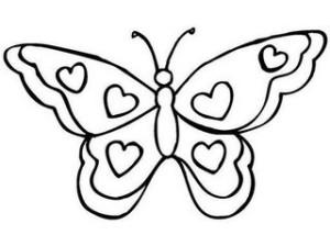imagen de mariposa para colorear