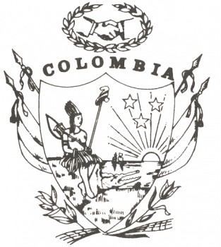imagen del escudo de colombia para colorear