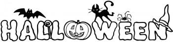 imagen para colorear de halloween