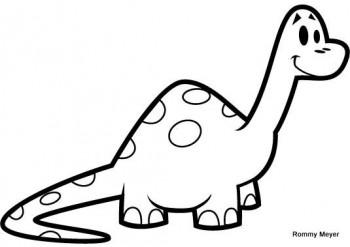imagenes de dinosaurios para colorear