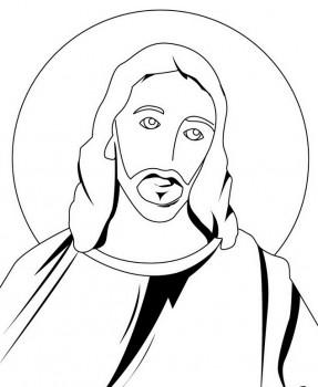 imagenes para colorear de jesus