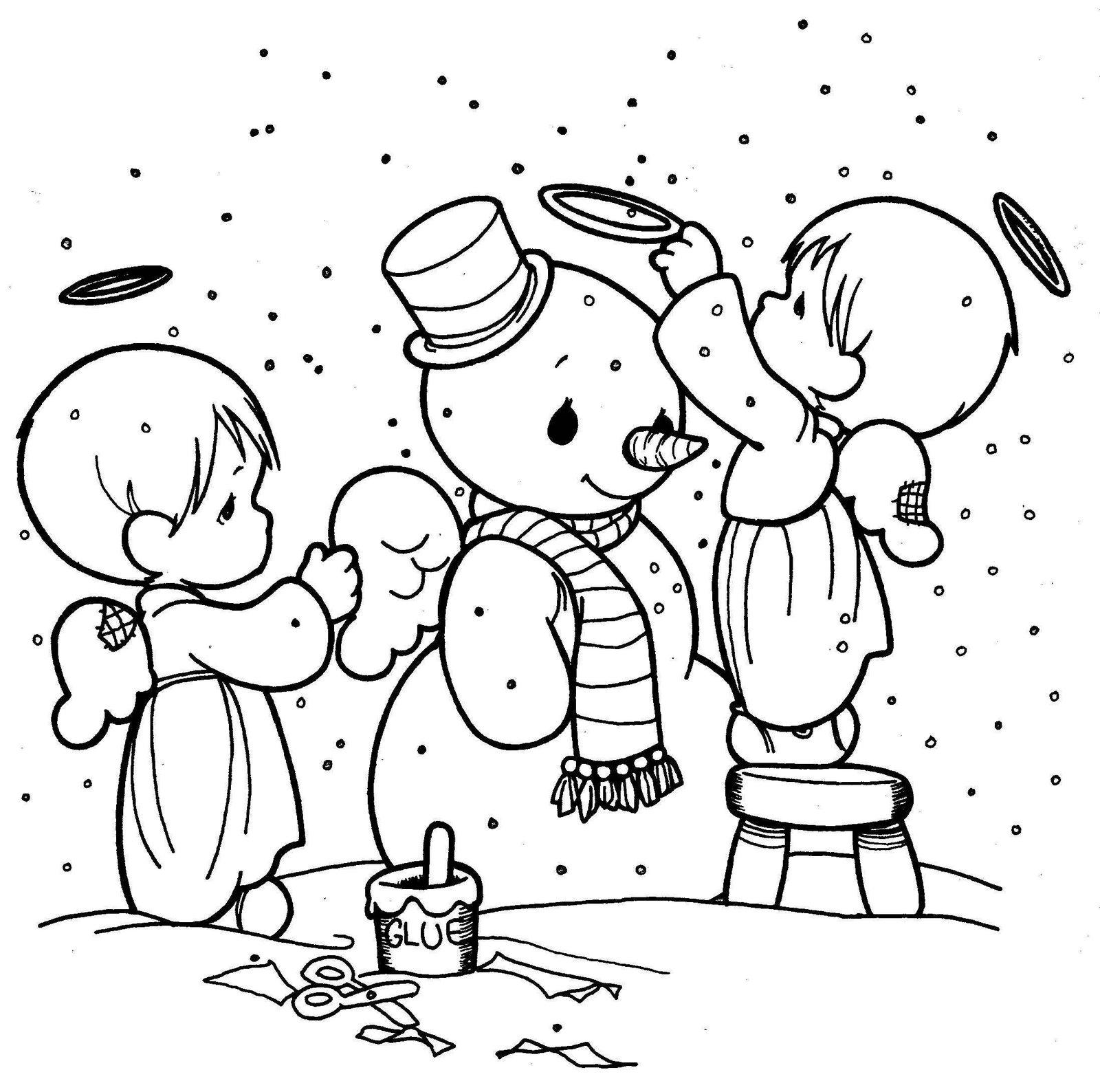 Imágenes para colorear de Navidad