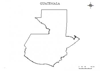 mapas de guatemala para colorear