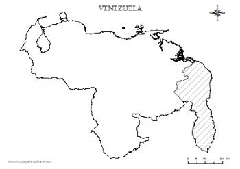 mapas para colorear de venezuela