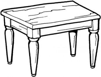 mesa para colorear