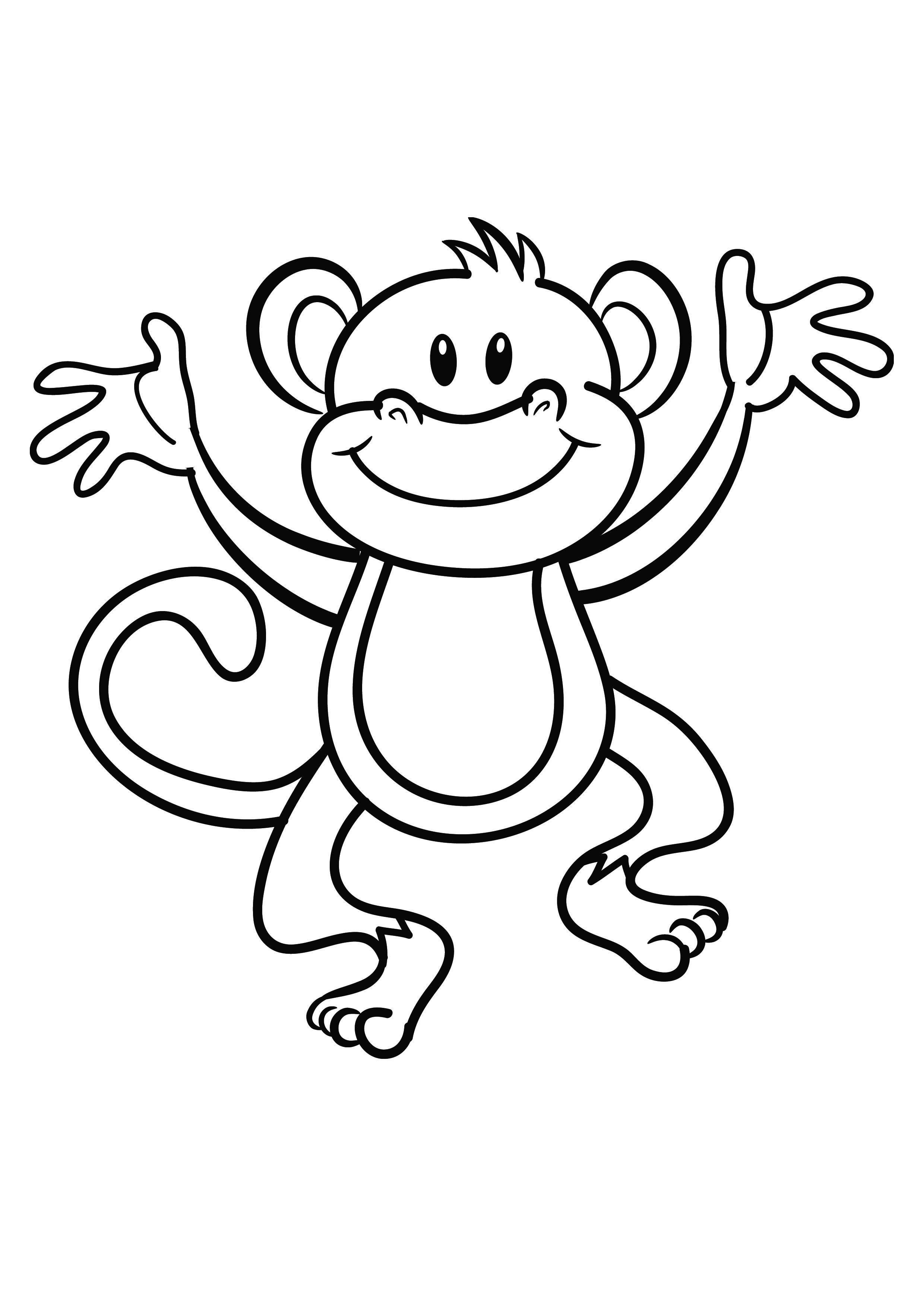 carnival monkey coloring pages - photo#44