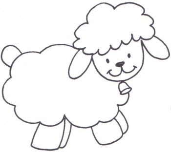 oveja para colorear