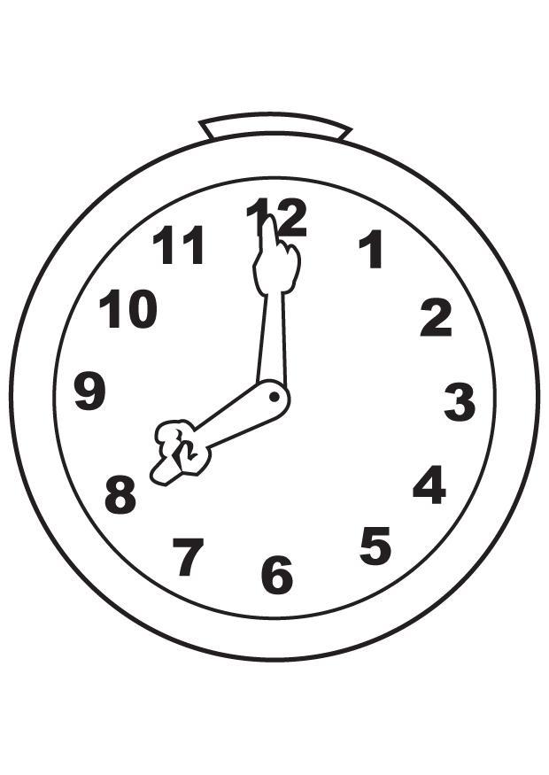 Reloj para colorear