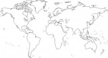 un mapamundi para colorear
