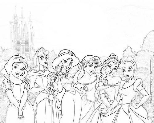 Colorear y pintar a las princesas Disney.
