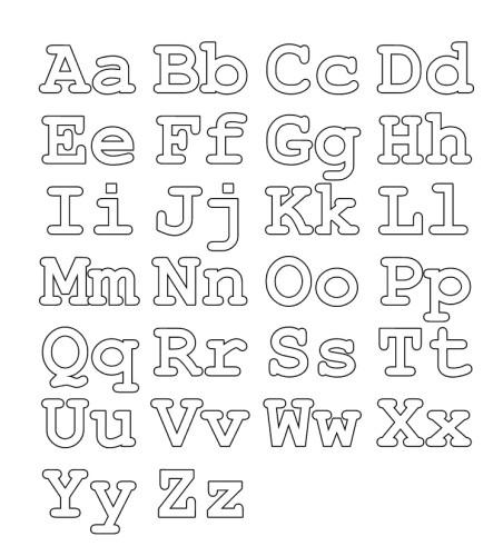 Colorear el abecedario