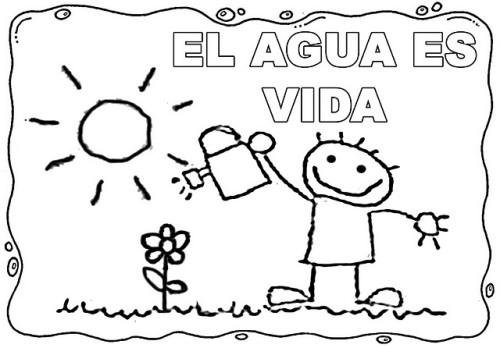 Colorear el agua por niños