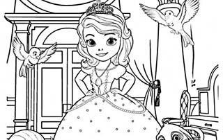 Colorear La Princesa Sofía