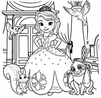 Colorear la princesa sofia