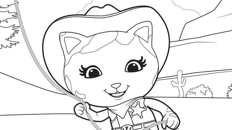 Colorear La Sheriff Callie