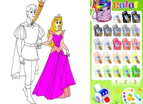 Dibujando Princesas Disney Para Niños Y Niñas: Juegos De Colorear Princesas