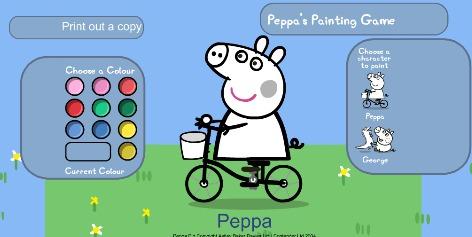 Juegos de colorear y pintar a peppa.