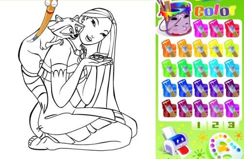 Juegos de colorear y pintar princesas.