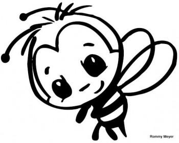 abejas para colorear