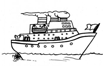 barcos para colorear