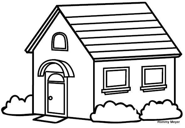 Casa para colorear - La casa de la mascota ...