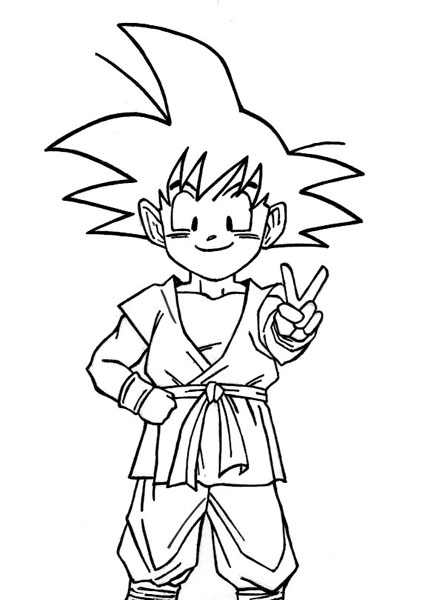 Goku Para Colorear