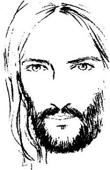 colorear a jesus