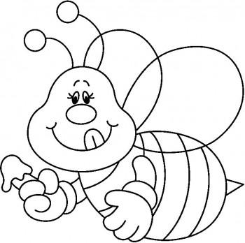colorear abejas