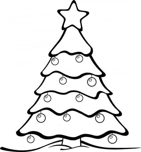 colorear arbol de navidad