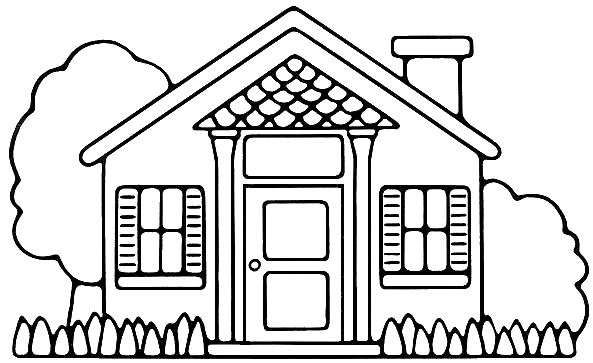 Casa para colorear for Como dibujar un plano de una casa