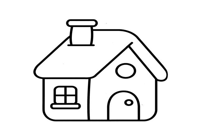 Casa para colorear - Formas de pintar una casa ...