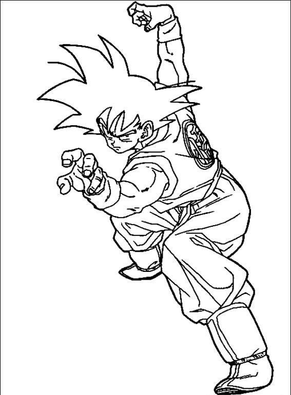 Dragon Ball Para Colorear