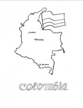 colorear mapa de colombia
