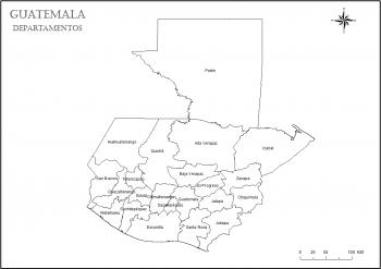 colorear mapa de guatemala