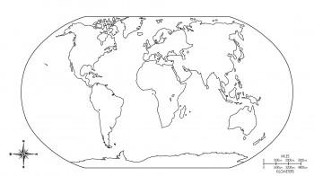 colorear mapamundi