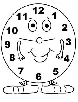 colorear reloj