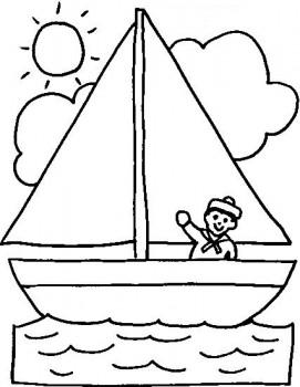dibujo de barco para colorear