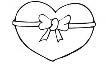 dibujo de corazon para colorear