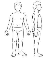 dibujo de cuerpo humano para colorear