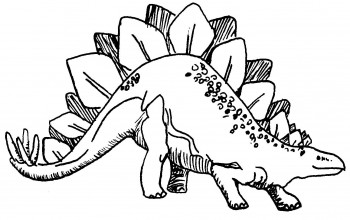 dibujo de dinosaurio para colorear