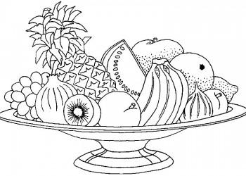 dibujo de frutas para colorear