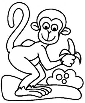 dibujo de mono para colorear
