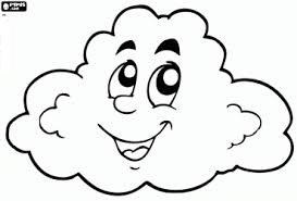 dibujo de nube para colorear