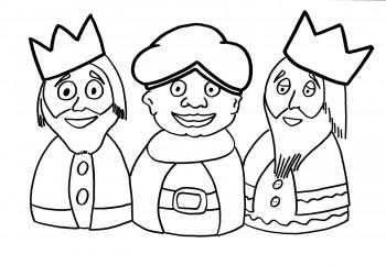 dibujo de reyes magos para colorear