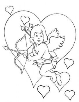 dibujo para colorear de amor