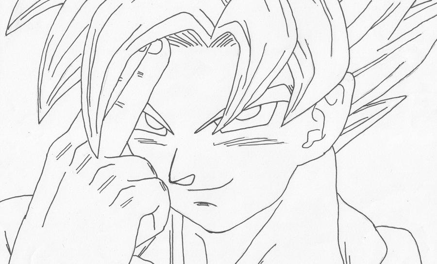Fotos Para Colorear De Goku En Todas Sus Fases: Dibujos Para Colorear De Gokú