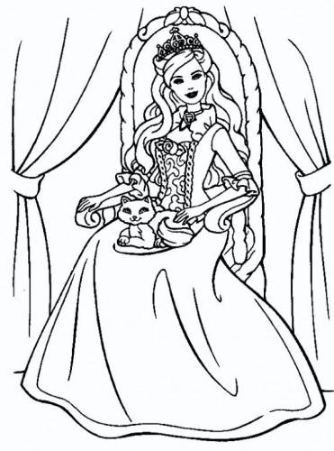 dibujos de barbie para colorear