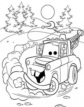 dibujos de cars para colorear