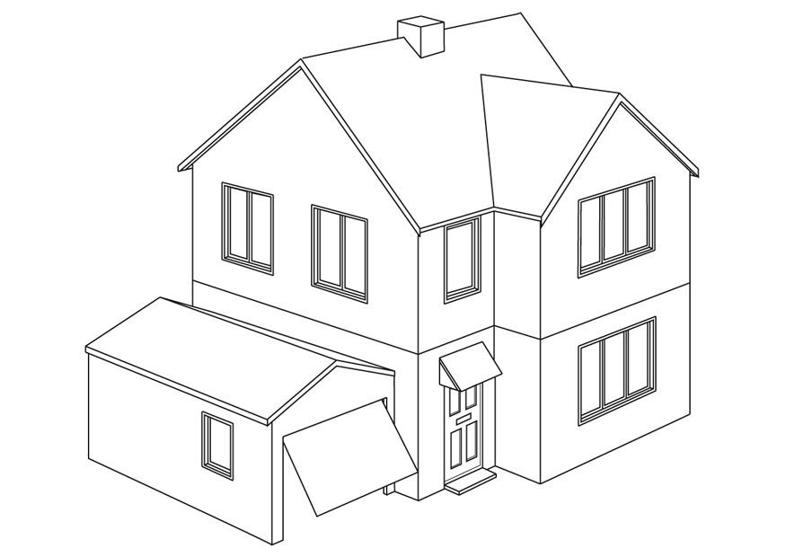 Casas para colorear for Como hacer una casa moderna y grande