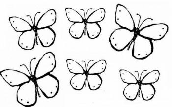 dibujos para colorear de mariposas